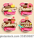 Set of Food Labels or Stickers. 35850687