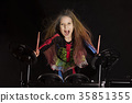 drummer, girl, rock 35851355