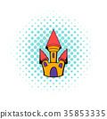 Castle icon in comics style 35853335