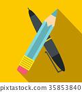 鉛筆 筆 向量 35853840