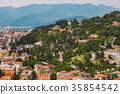 view of the European old town of Brescia in Italy  35854542