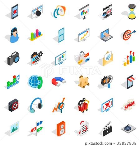 Web development icons set, isometric style 35857938