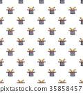 Magic hat with rabbit pattern seamless 35858457