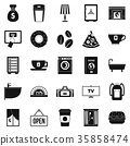 Holiday house icons set, simple style 35858474