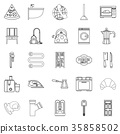 Rooming house icons set, outline style 35858502