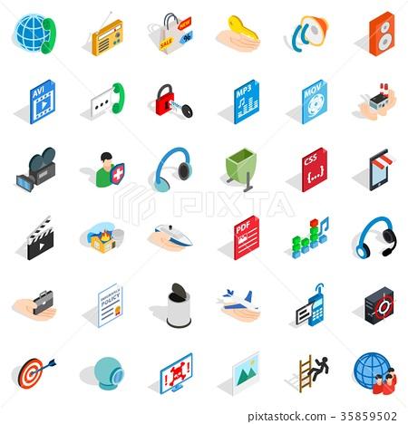 Web site icons set, isometric style 35859502