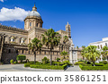 Facade of the cathedral of the city of palermo 35861251