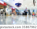 CCTV camera record on blurry store background. 35867962