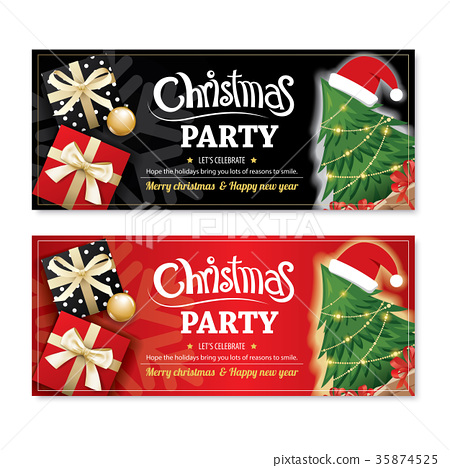 Invitation Merry Christmas Party Poster And Card Stock