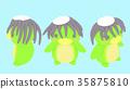 Kappa插圖材料正面3種圖案 35875810