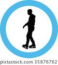 ice skate silhouette 35876762