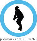 ice skate silhouette 35876763
