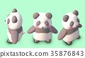 熊貓圖材料正對角線上方3個圖案 35876843