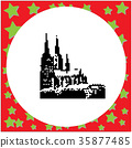 Cologne Cathedral Germany vector illustration 35877485