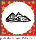 Giza Pyramids of Egypt black 8-bit  35877511
