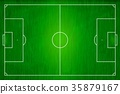 Top view of soccer field, Football stadium. 35879167