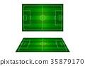 Top view of soccer field, Football stadium. 35879170
