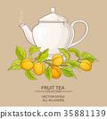 apricot, vector, tea 35881139