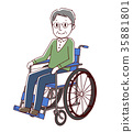 vector, vectors, Wheel Chair 35881801