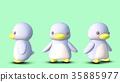 企鵝3D CG插圖材料前3個模式 35885977