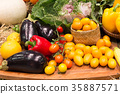 Colorful fruits and vegetables background 35887571