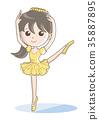 女孩 芭蕾 人 35887895