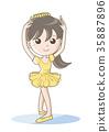 女孩 芭蕾 人 35887896