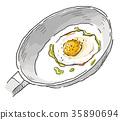 煎蛋捲 日式煎蛋 烹飪 35890694