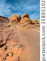 美國亞利桑那州 峽谷 曲線 35893102