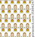 pattern with russian dolls matryoshkas 35894247