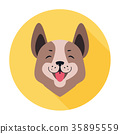 Central Asian Shepherd Dog Flat Icon Doggy Head 35895559