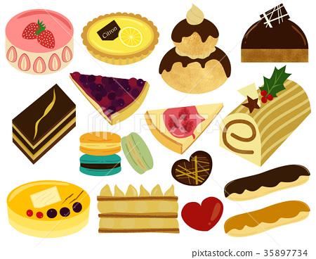 一套 蛋糕 甜食 35897734