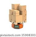 機器人 搬運 紙箱 35908303