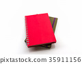 Red and brown book. 35911156