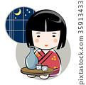 여성, 여자, 일본술 35913433