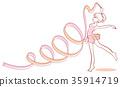vector, vectors, rhythmic gymnastics 35914719