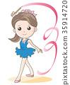 vector, vectors, rhythmic gymnastics 35914720