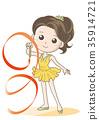 리듬 체조 리본 경기 · 여성 캐릭터 35914721