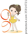 vector, vectors, rhythmic gymnastics 35914721