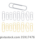 Small Binder Clips Vector Isolated On White 35917476