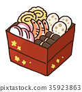 osechi, traditional japanese new year dishes, stacked box 35923863