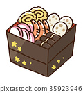 osechi, traditional japanese new year dishes, stacked box 35923946