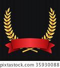 gold, laurel, vector 35930088