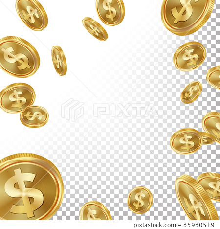 Jackpot Winner Background Vector. Falling 35930519