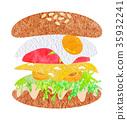 漢堡 快餐 垃圾食品 35932241
