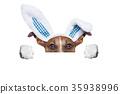 dog easter bunny 35938996