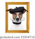 painter artist frame  dog 35939710