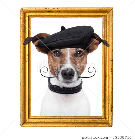 painter artist frame  dog 35939710