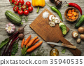 vegetables, carrot, garlic 35940535