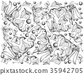Hand Drawn Delicious Sweet Green Peas Background 35942705